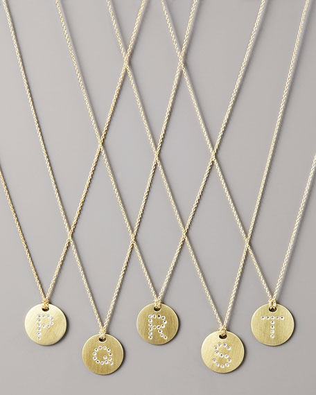 Letter Medallion Necklace