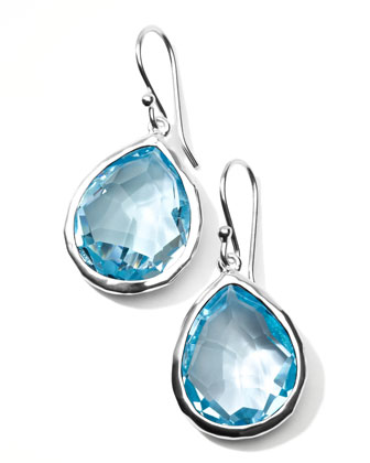 Silver Rock Candy Topaz Teardrop Earrings