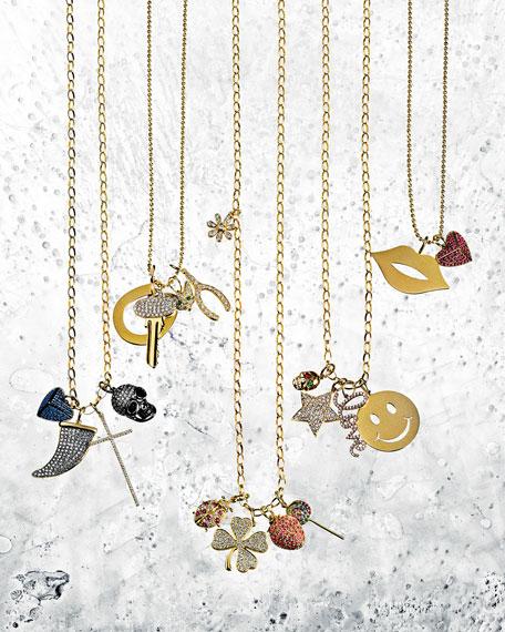 sydney evan small diamond clover pendant necklace. Black Bedroom Furniture Sets. Home Design Ideas
