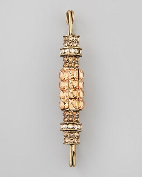 Crystal Pin Brooch