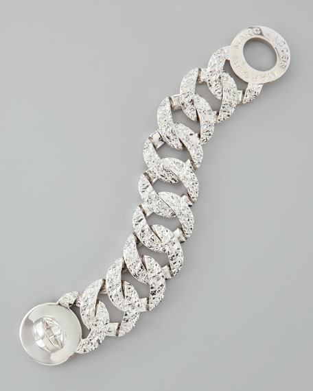 Exploded Katie Turnlock Bracelet, Silvertone