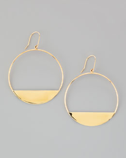 Lana Medium 14k Gold Eclipse Earrings