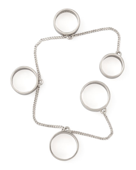 Five-Finger Ring, Silvertone