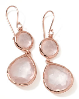 Ippolita Rose Rock Candy Snowman Earrings, Rose Quartz