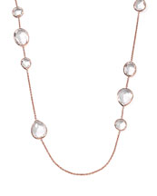 Ippolita Rose Rock Candy Clear Quartz Paparazzi Chain Necklace, 43""