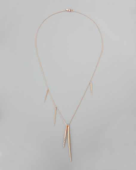Rose Golden Spear Necklace