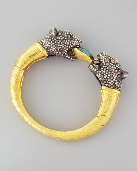 Cordova Jaguar-Clasp Bangle Bracelet