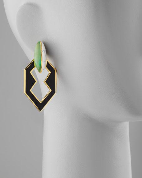Peaked Semiprecious Link Earrings