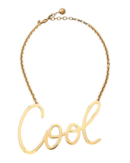 Cool Word Pendant Necklace