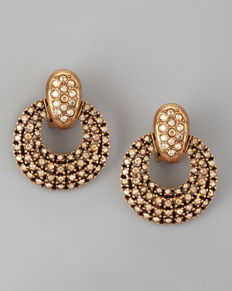 Pave Door-Knocker Earrings
