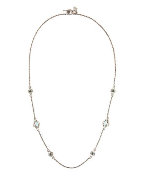 """New World Opal Diamond Necklace, 20""""L"""