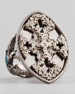 Armenta New World Maltese Cross Shield Ring