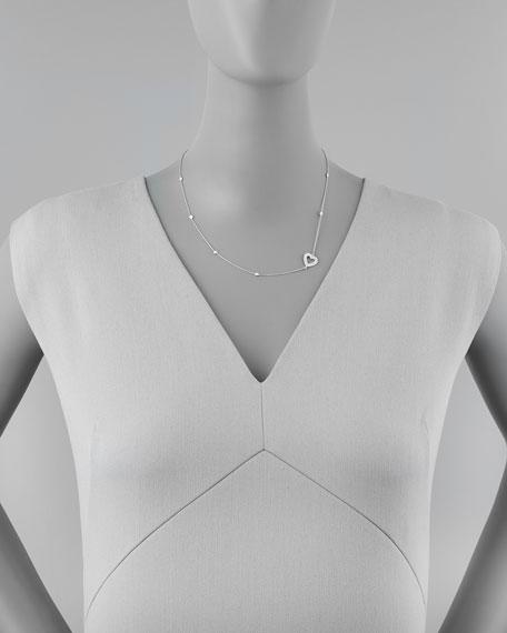 18k White Gold Heart Diamond Necklace