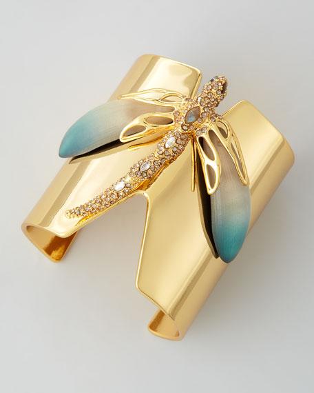 Neo Boho Dragonfly Cuff Bracelet