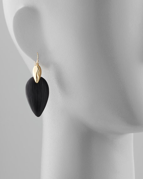 Neo Boho Lucite Marquise Earrings, Black