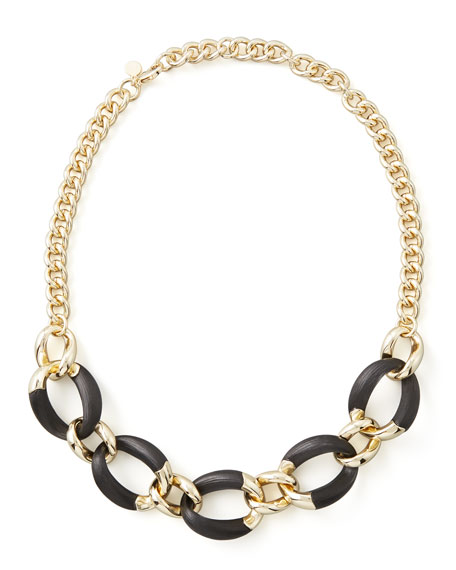Neo Boho Lucite Necklace, Black