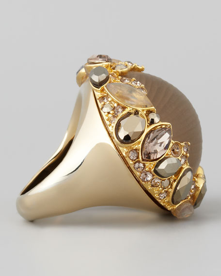 Neo Boho Marquise Ring with Pave Trim