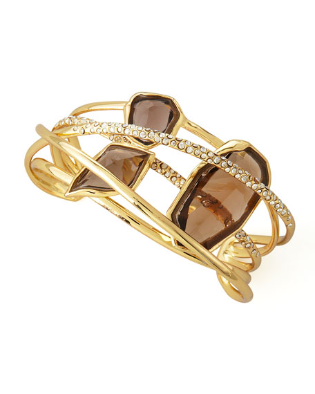 0eedb1971c4 Alexis Bittar Five-Ringed Smoky Quartz Cuff Bracelet
