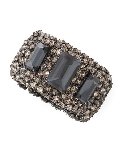 Metallic Nova XL Crystal Hinge Cuff