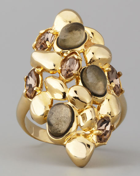 Pyrite-Doublet & Crystal Ring