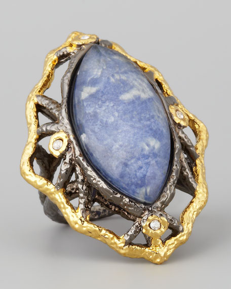 Marquise Sodalite Ring