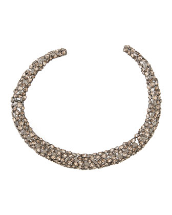 Nova Crystal Hinge Collar Necklace