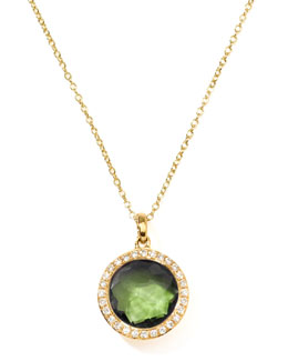 Ippolita Rock Candy 18k Gold Mini Lollipop Necklace in Peridot & Diamond