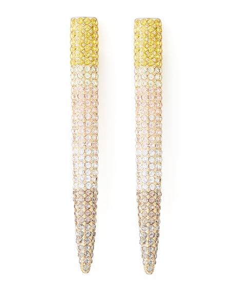 Pave Long Spike Earrings