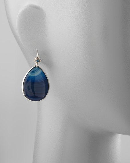 Blue Agate Teardrop Earrings