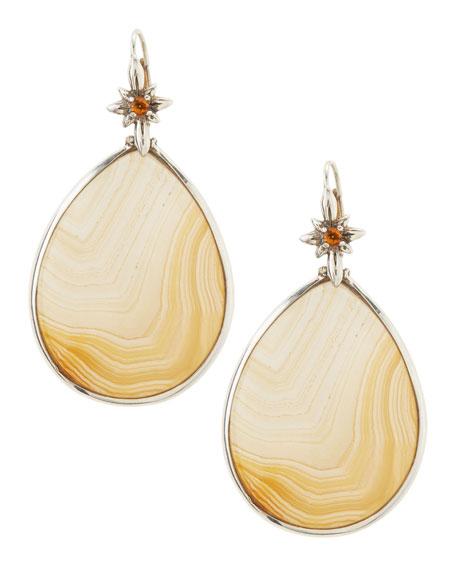 Natural Agate Teardrop Earrings