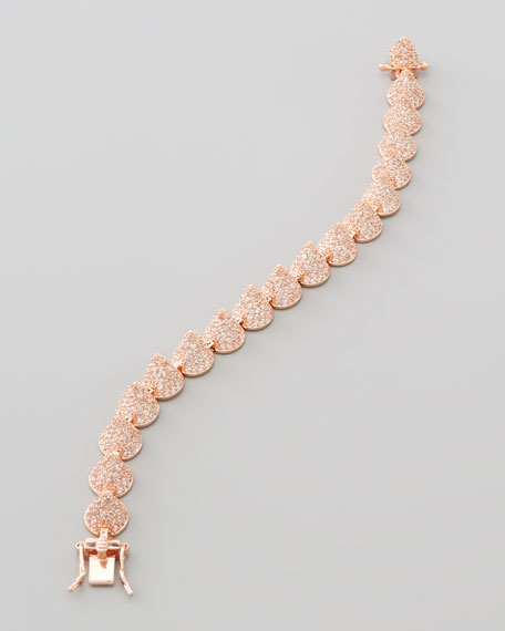 Small Pave Cone Bracelet, Rose Gold