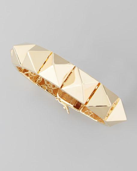 Large Pyramid Bracelet, Yellow Gold