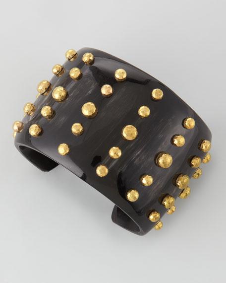Kiwiko Studded Cuff Bracelet, Dark Horn