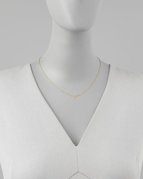 Horseshoe & Single-Diamond Necklace