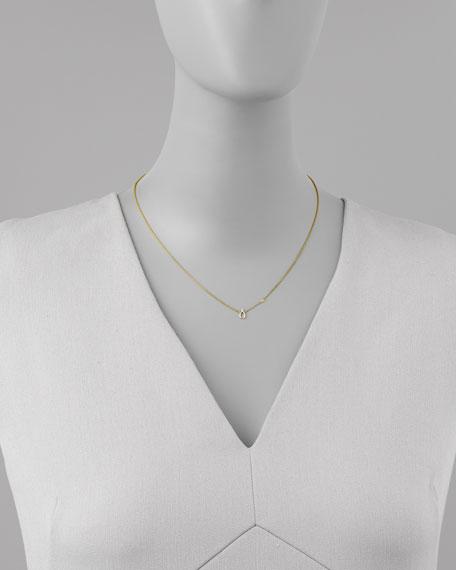 Wishbone Pendant Bezel Diamond Necklace