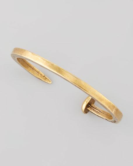 skinny-railroad-spike-bracelet,-brassy by giles-&-brother-by-philip-crangi