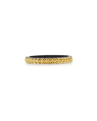 Midnight & 18k Gold Stackable Band Ring