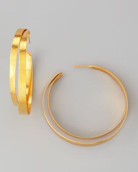 Ruban Small Hoop Earrings