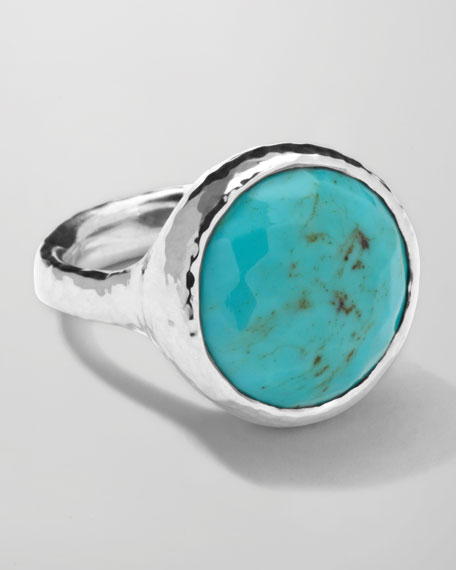 Sterling Silver Rock Candy Lollipop Ring in Turquoise