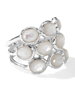 Ippolita Sterling Silver Rock Candy 3-Row Ring in Mother-of-Pearl