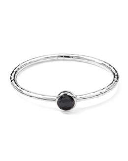 Ippolita Sterling Silver Wonderland Hinge Bangle in Hematite