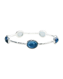 Ippolita Sterling Silver Wonderland 5-Stone Bangle in Indigo