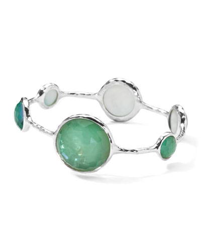Sterling Silver Wonderland Lollipop Bangle in Mint