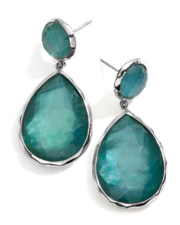 Ippolita Sterling Silver Wonderland Teardrop Snowman Post Earring in Denim