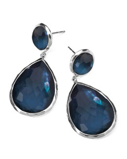 Ippolita Sterling Silver Wonderland Teardrop Snowman Post Earrings in Indigo