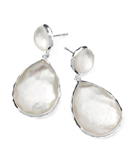 Ippolita Sterling Silver Wonderland Teardrop Snowman Post Earrings in Doublet