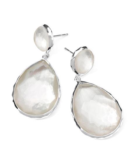 Sterling Silver Wonderland Teardrop Snowman Post Earrings in Doublet