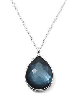 Ippolita Wonderland Silver Large Teardrop Pendant Necklace, Indigo