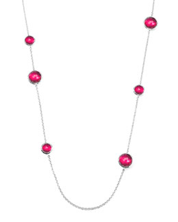 Ippolita Sterling Silver Wonderland Lollipop Station Necklace in Raspberry 40""