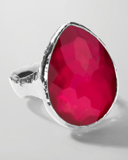 Ippolita Sterling Silver Wonderland Teardrop Ring in Raspberry